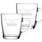 YourSurprise Tasses à thé marraine avec prénom - 2 pièces