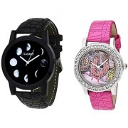 Laurex Analog Leather Watches for Lovely Couple Combo-LX-064-LX-126