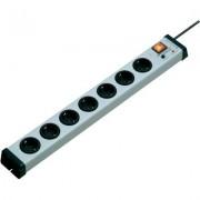 Ehmann Akustik plus elosztó túlfeszültség védelemmel, 7 részes, szürke, 1,5m, 5kA, 0206x00072301 (55