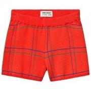 Bobo Choses Lines Stickade Shorts Red Clay 4-5 år