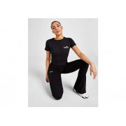 Ellesse Pantalon Logo Rib Flared Femme - Black, Black - XL