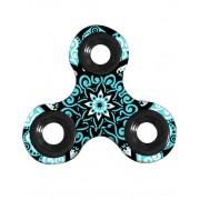 ART Mandala Flower Art Fidget Spinner - Svart och Blå