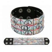 Geen Armband met peace klinknagels