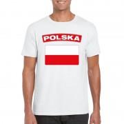 Geen Poolse vlag shirt wit heren