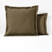 La Redoute Interieurs Fronha de almofada ou de travesseiro, em flanela, SCENARIOCaqui- 63 x 63 cm