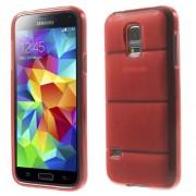 Body Armor твърд гръб за Samsung Galaxy S5 mini G800 - червен