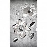 Tablou Canvas Abstract flori 50 x 90 cm Rama lemn Multicolor