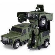 Masina Rastar Land Rover Transformer 1 14 2.4GHz RTR AA baterie - Verde cu telecomanda