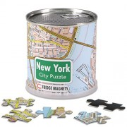 New York - City Puzzle Magnets in premium tin can