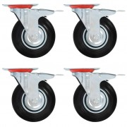 vidaXL 32 pcs Roulettes pivotantes 125 mm