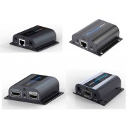 HDMI over CAT5e CAT6 Extender Set with TX HDMI Pass-through / Splitter & IR