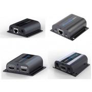 HDMI over CAT5e/CAT6 Set with TX HDMI Passthrough / Splitter and IR (HDMI 1x2 Splitter / Extender with IR)