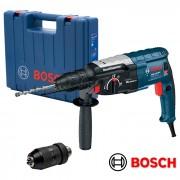 Trapano martello demolitore/Tassellatore 28mm 850W SDS Plus + mandrino cremagliera Bosch - GBH 2-28 DFV Professional