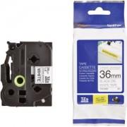 Етикетна лента Brother TZe-S261 Tape, Black on White, Adhesive, 36mm, 8m, TZES261