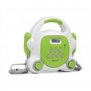 Auna Pocket Rocker BT, караоке система, BT, USB - порт, MP3, 2 микрофона, зелен (MG10-Kar Player-WH/G)
