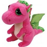 Pluche Ty Beanie roze draak/draken knuffel Darla 24 cm speelgoed - Draken mythische dieren knuffels - Speelgoed voor kinderen