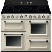 Smeg TR4110IP Cocina Serie Victoria Color Crema con 2 Hornos Eléctricos y 5 Encimeras de Inducción