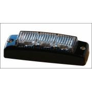 Flash 3-LEDuri GALBENE 12-24V cu avizare europeana R65 de calitate a luminii emise