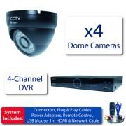 Profi kamerový set 4x 960H antivandal kamery + DVR s 1TB HDD
