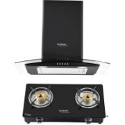 Hindware Sabina Blk 60 Plus Brio 2B Wall Mounted Chimney(Black 1100 CMH)