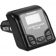 ER QSS-50 Coche Bluetooth Reproductor De Audio MP3 Con Cargador USB PANTALLA LCD Para Teléfonos -Negro