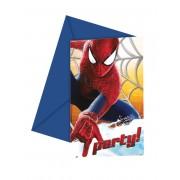 6 Convites The Amazing Spider-Man 12 x 12.5 cm