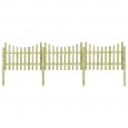 vidaXL Gard de grădină cu 4 stâlpi 510x120 cm lemn de pin tratat FSC