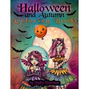 Halloween and Autumn Coloring Book by Molly Harrison: A Halloween coloring book featuring 25 pages of line art to color! Witches, Vampires, and More!, Paperback/Molly Harrison
