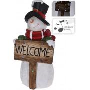 Postavička vianočná snehuliak 72CM s welcome s hudbou dekorácia