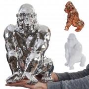 Deko Figur Gorilla 40cm, Polyresin Skulptur Affe, In-/Outdoor ~ Variantenangebot