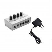 Ha400 Compacto Amplificador de auriculares estéreo de 4 canales Monitor Amplificador de auriculares