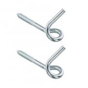 Merkloos 2x stuks schommelhaken / krulhaken staal verzinkt 120 x 8.85 mm