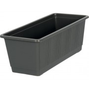 Jardiniera Geli standard, plastic, 40x17x14 cm, antracit