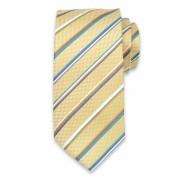 Cravată clasică, din mătase, în culoarea galben 10329