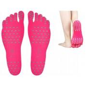 Set talpi autoadezive impermeabile pentru protectie plaja sau piscina, culoare Roz, marime XL