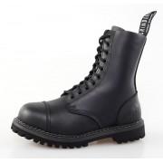 cipő GRINDERS - 10dírkové - Stag Derbi - Black