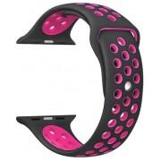 Wotchi Silikonový řemínek pro Apple Watch Černá/Růžová 42/44 mm