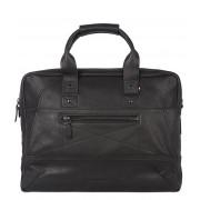 Decoded Crossbodytas Leather Briefcase 15 inch Zwart