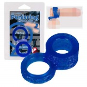 You2Toys Double Cock Ring Blue 0510459