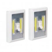 Hordozható vezeték nélküli LED lámpa COB 3W 2 db