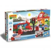 Joc de construit Unico Tren Station 100 pcs A Haberkorn