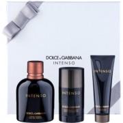 Dolce & Gabbana Pour Homme Intenso lote de regalo III. eau de parfum 125 ml + desodorante en barra 75 ml + gel de ducha 50 ml