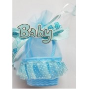 Marturii cosulet Baby albastru 12.5cm