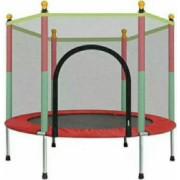 Trambulina copii 122x140cm cu plasa de protectie multicolora