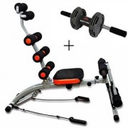 Ibs Six pack abs Rocket Twister Home Fitness Gym Abs Cruncher Body Builder WITH Bodi pro roller Ab Exerciser (Black)
