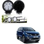 Auto Addict DEVICE 4 inch 9 LED 27Watt Round Fog Light with Flood Beam Auxiliary Lamp Set Of 2 Pcs For Tata Hexa