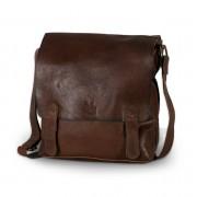 Bőr táska nak nek váll 8385 a barna szín