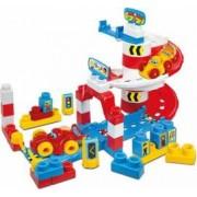 Set cuburi construcii moi Clemmy Masinute de curse 40 de piese