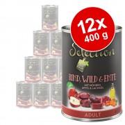 Lot zooplus Selection 12 x 400 g pour chien - lot mixte Adult : boeuf, gibier / boeuf, faisan