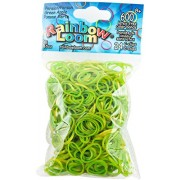 Rainbow Looms Official Rainbow Loom 600 Ct. Rubber Band Refill Pack Persian Green Apple [Includes 24 C-Clips!]
